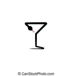 snake poison glass pharmacy icon logo design