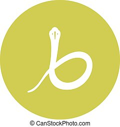 Snake , Poison - Snake, cobra, king icon vector image. Can ...