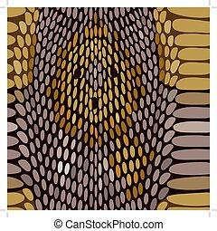 Snake python skin texture. Seamless pattern.