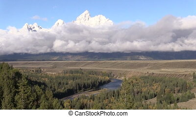 Snake River Overlook Teton N.P. - scenic view of the tetons...