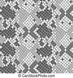 Snake skin artificial seamless vector texture.
