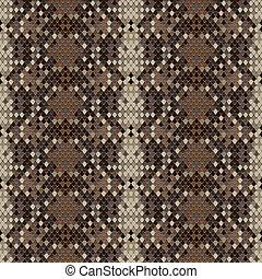 Snake skin reptile seamless pattern, vector Eps8...