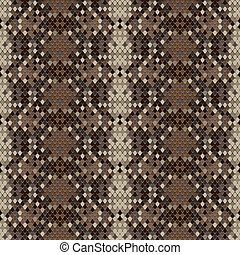 Snake skin reptile seamless pattern, vector Eps8 illustration.