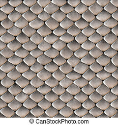 Snake Skin Scales Seamless Texture - A scaly snake skin...