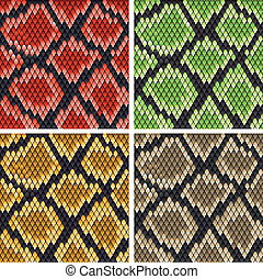 Snake skin - Set of snake skin patterns for design or ornate