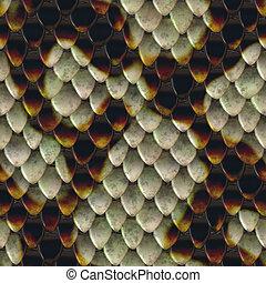 Snake Skin - Realistic snake skin illustration that tiles...
