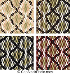 Snake skin - Set of snake skin pattern for design or ornate