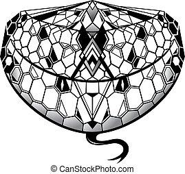 Snake tattoo as creative tattoo shape