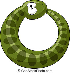Snake - The snake bites its own tail, vector