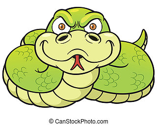 Snake - Vector Illustration of Cartoon Snake