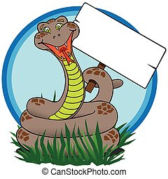 Snake With Sign