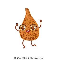 Snakefruit Girly Cartoon Character