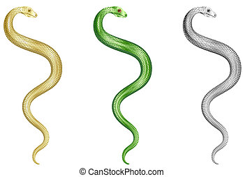 Snakes Set Original Vector Illustration Simple Image...