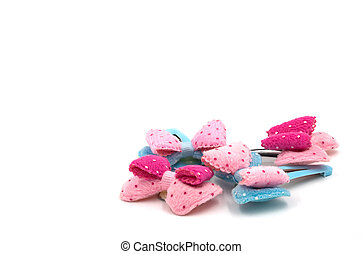 Snap Barrette Hair Clips on white background.