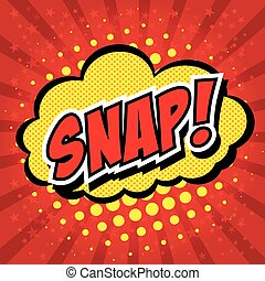 Snap! Comic Speech Bubble, Cartoon