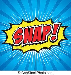snap!, comico, bolla discorso, cartone animato