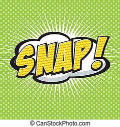 snap!, komik, mowa, bubble.