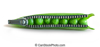 Snap peas zipper concept