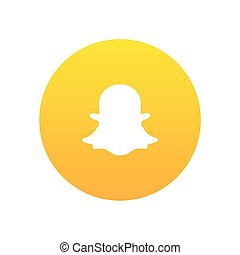 Snapchat vector icon design for website