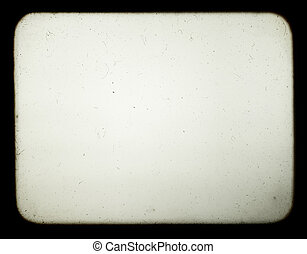 Snapshot of a blank screen of old slide projector, suited to achieve the effect of old photos.