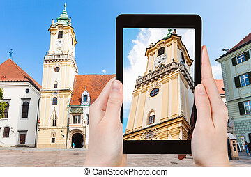 snapshot of Old Town Hall in Bratislava