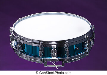 Snare Drum Isolated on Purple