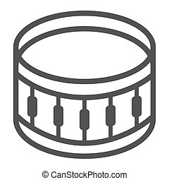 snare drum line icon snare drum vector line icon isolated on white background snare drum line. Black Bedroom Furniture Sets. Home Design Ideas