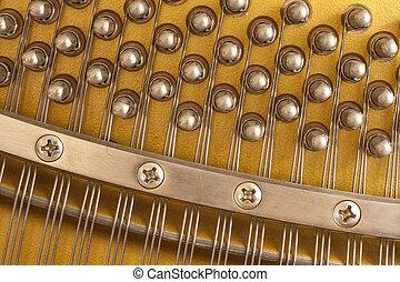 snares, klavier, closeup