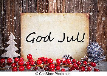 sne, merry, tekst, avis, jul, betyder, jul, dekoration, gud,...