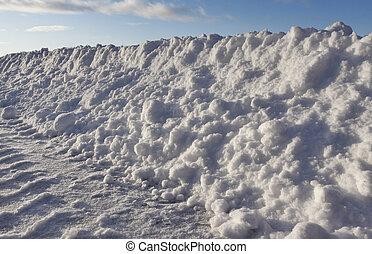 sne, vejen