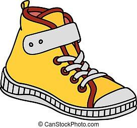 sneaker, childrens, amarela
