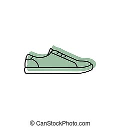 Sneaker icon, doodle style