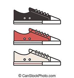 Sneaker illustration set