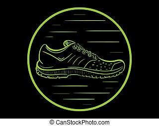 Sneaker in a circle