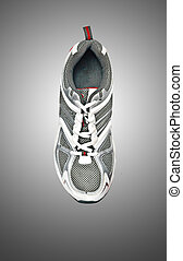 Sneaker isolated on grey background