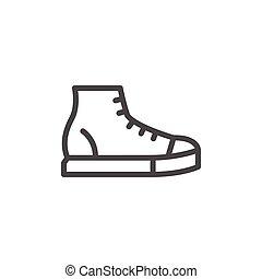 Sneaker line icon