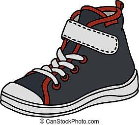 sneaker, pretas, childrens