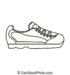 sneaker, schoen, beeld, pictogram