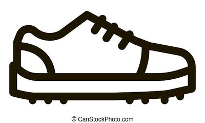 Sneaker Shoe Icon Animation. black Sneaker Shoe animated icon on white background