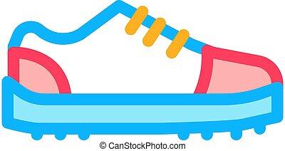 Sneaker Shoe Icon Vector Outline Illustration