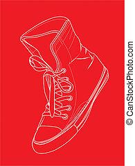 sneaker, silueta