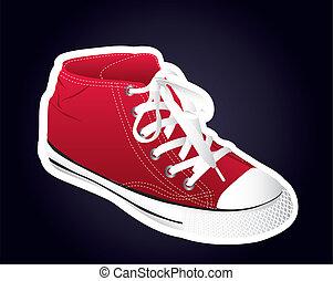 sneaker, vermelho