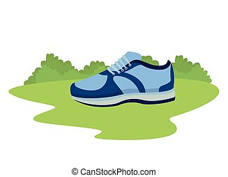 sneaker with shoelance icon cartoon