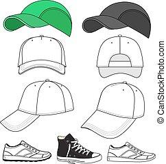 Sneakers & baseball cap set