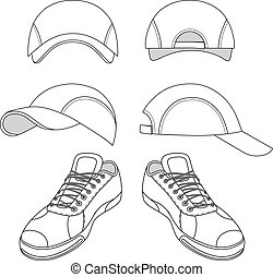 Sneakers & baseball cap set