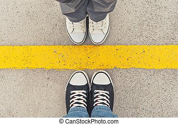 sneakers, de, above.