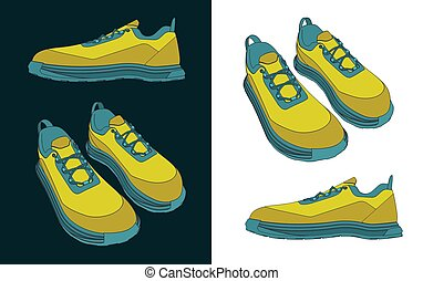 sneakers, desenhos, cor