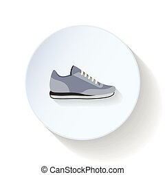 Sneakers flat icon