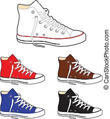 sneakers, (gumshoes)