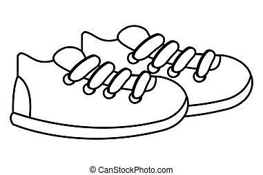 sneakers icon design